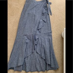 Women's Express high low denim skirt